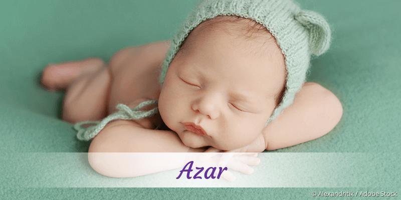 Name Azar als Bild