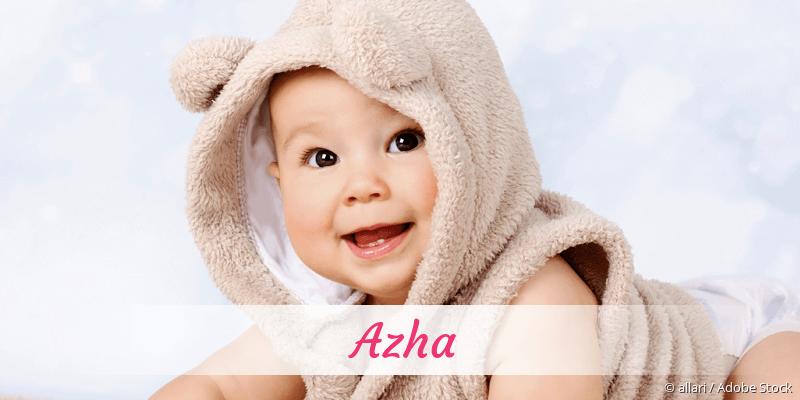 Name Azha als Bild