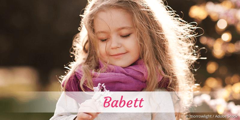 Name Babett als Bild
