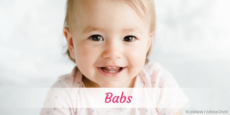 Name Babs als Bild