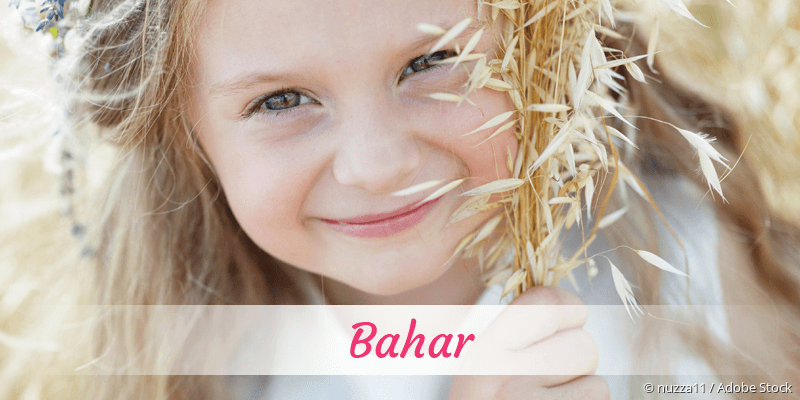Name Bahar als Bild