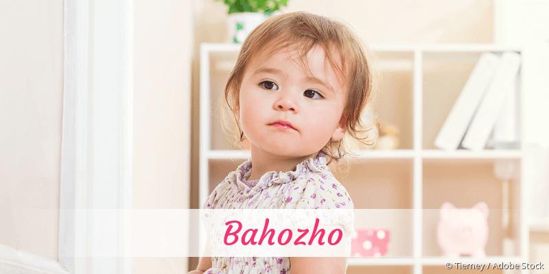 Name Bahozho als Bild