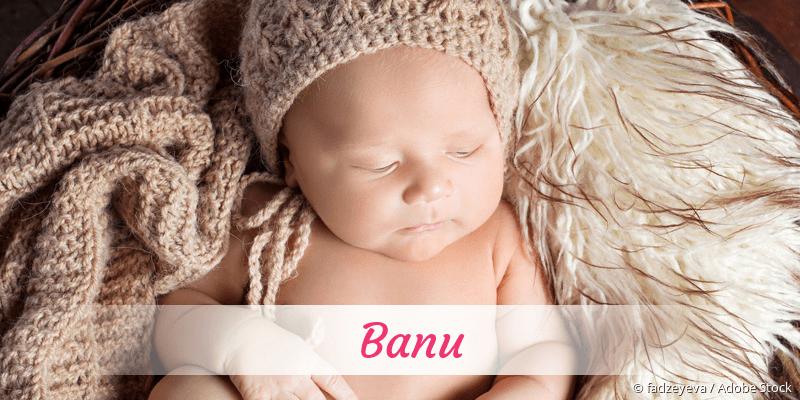 Name Banu als Bild