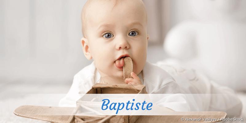 Name Baptiste als Bild