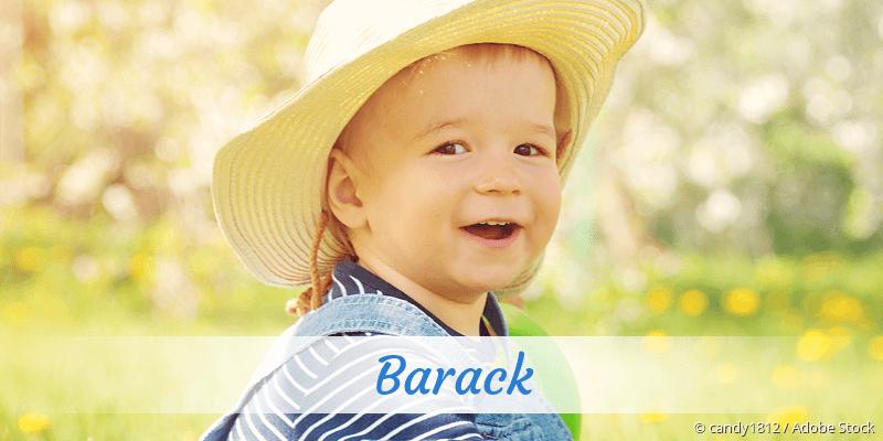 Name Barack als Bild