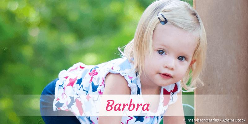 Name Barbra als Bild
