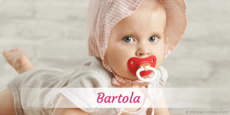 Name Bartola als Bild