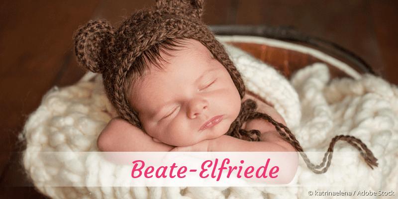 Name Beate-Elfriede als Bild