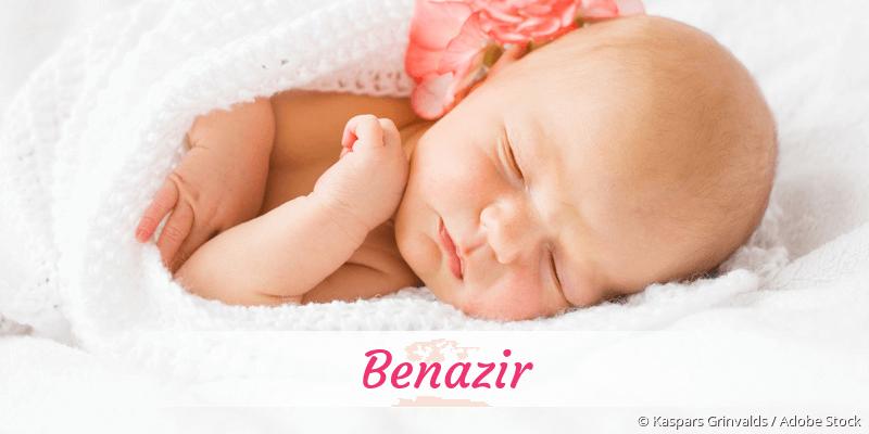 Name Benazir als Bild