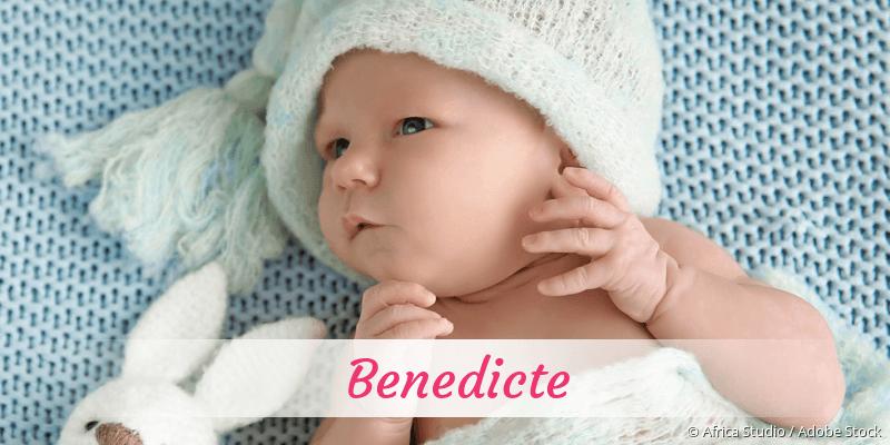 Name Benedicte als Bild