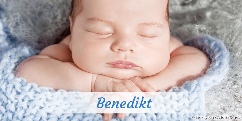 Name Benedikt als Bild