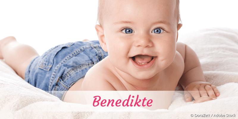 Name Benedikte als Bild