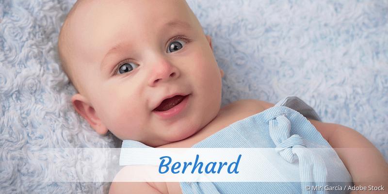 Name Berhard als Bild