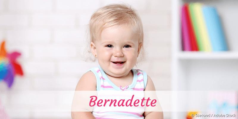 Name Bernadette als Bild