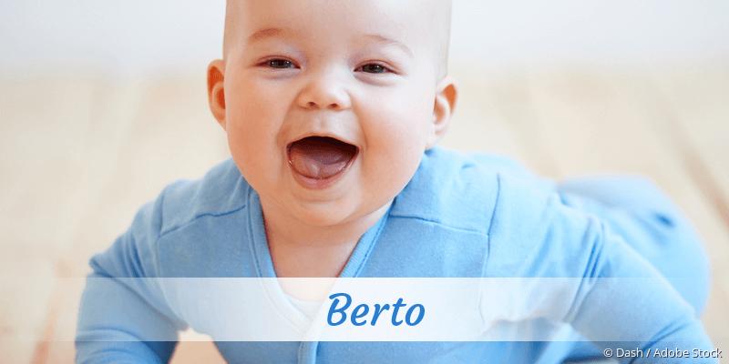 Name Berto als Bild