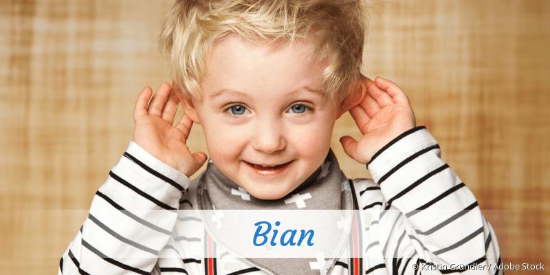 Name Bian als Bild
