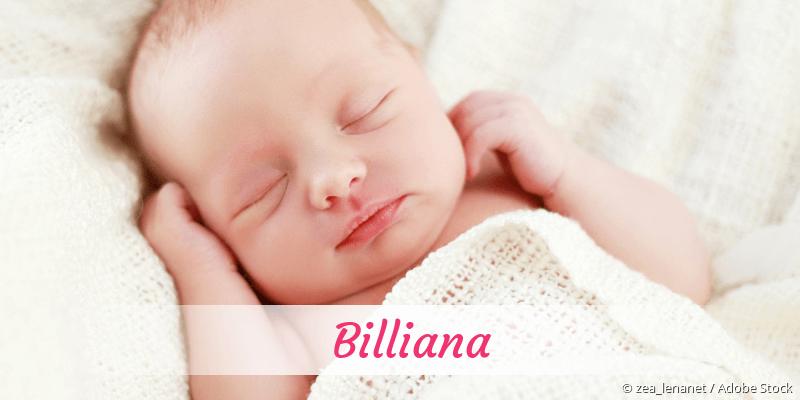 Name Billiana als Bild