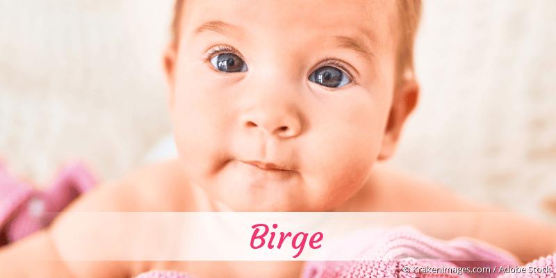 Name Birge als Bild