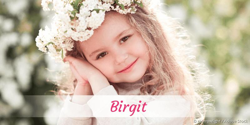 Name Birgit als Bild