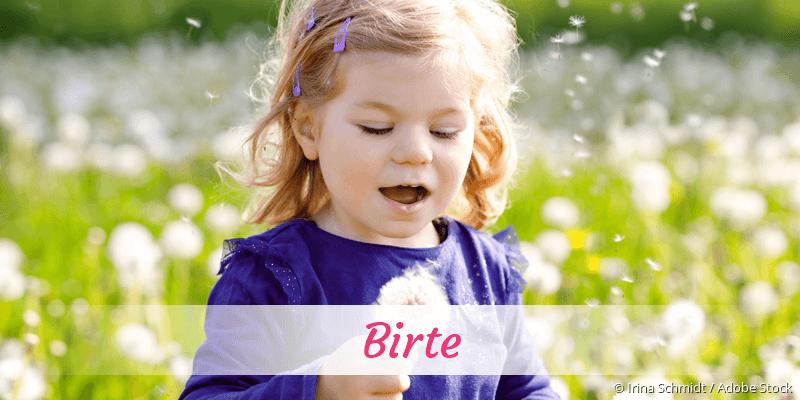 Name Birte als Bild