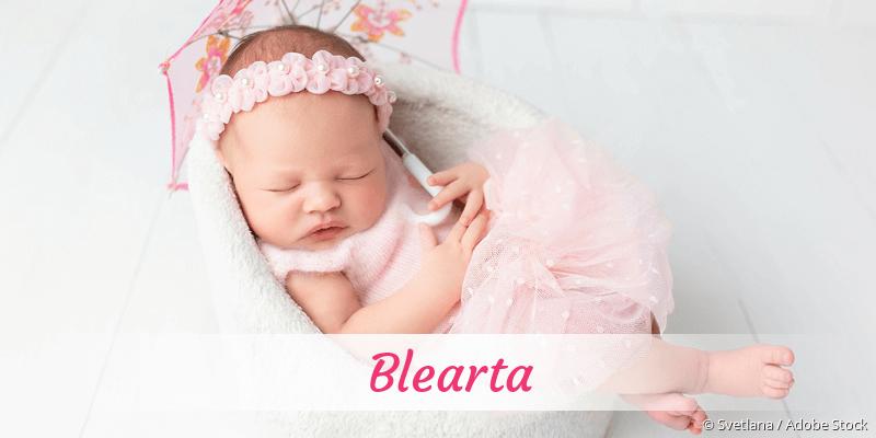 Name Blearta als Bild
