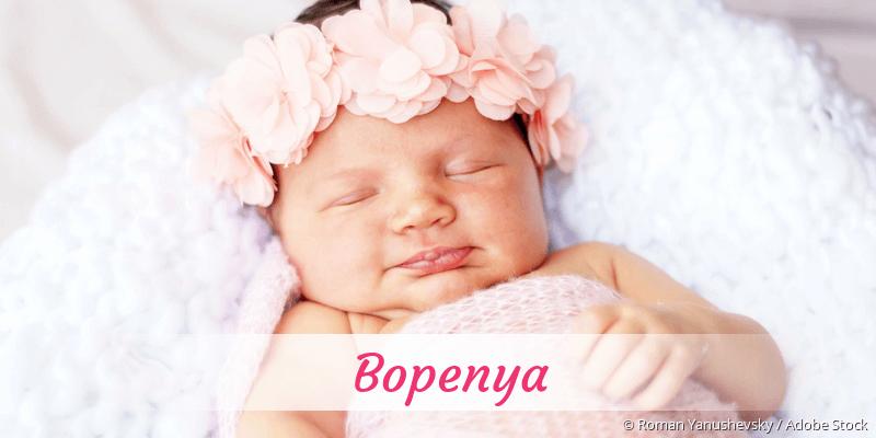 Name Bopenya als Bild