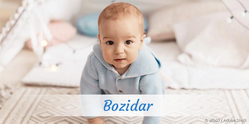 Name Bozidar als Bild