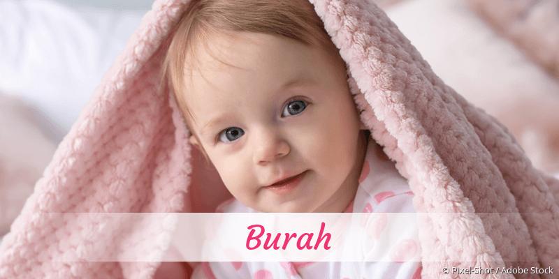 Name Burah als Bild