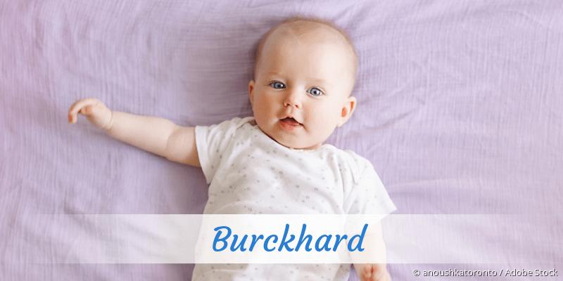 Name Burckhard als Bild