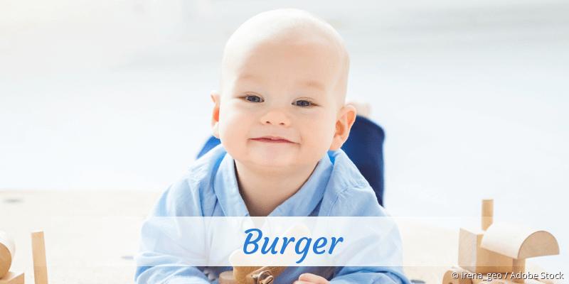 Name Burger als Bild