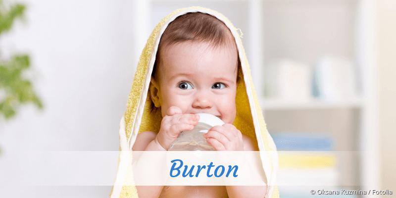 Name Burton als Bild