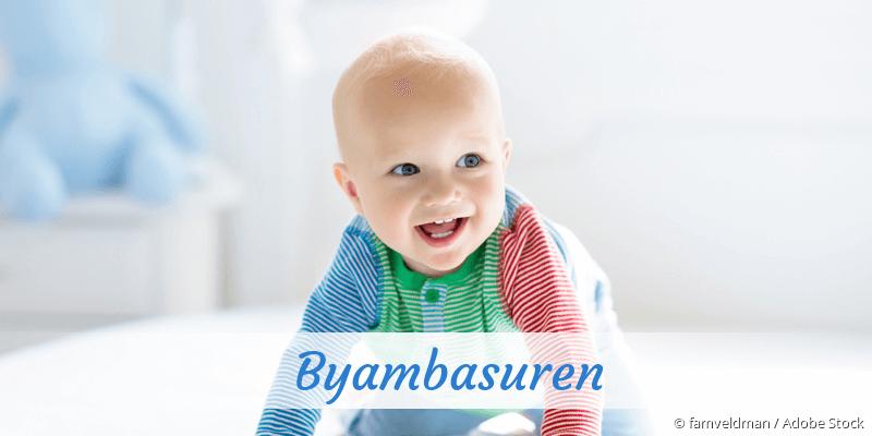 Name Byambasuren als Bild