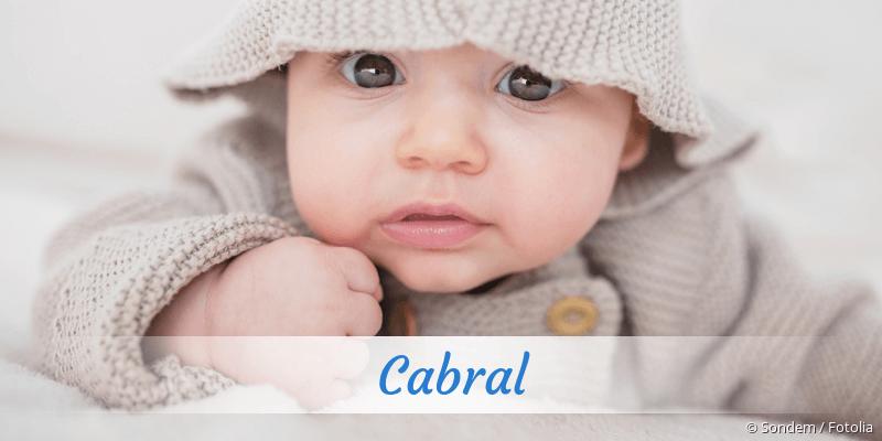 Name Cabral als Bild