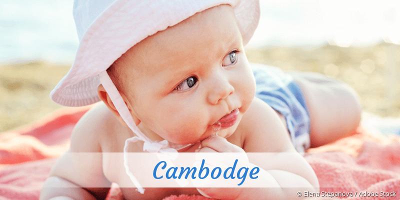 Name Cambodge als Bild