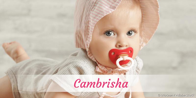 Name Cambrisha als Bild