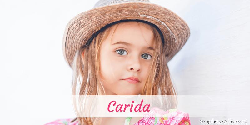 Name Carida als Bild