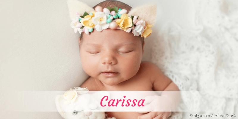 Name Carissa als Bild