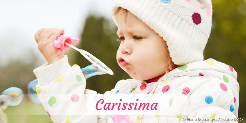 Name Carissima als Bild