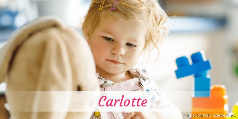 Name Carlotte als Bild