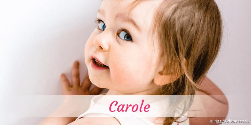 Name Carole als Bild