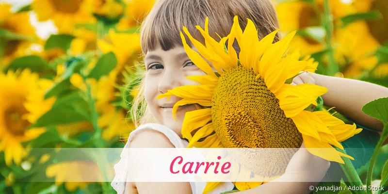 Name Carrie als Bild