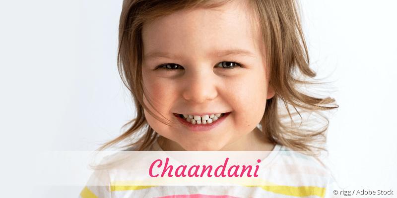 Name Chaandani als Bild