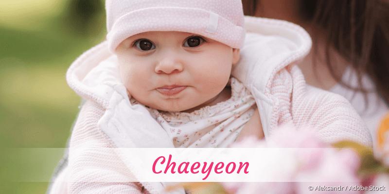 Name Chaeyeon als Bild