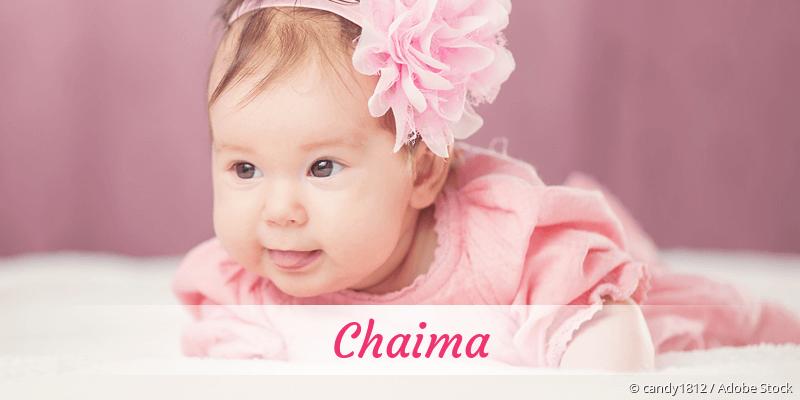 Name Chaima als Bild