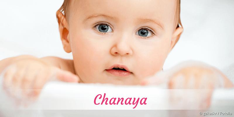 Name Chanaya als Bild