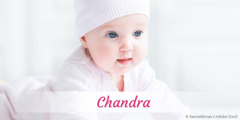Name Chandra als Bild