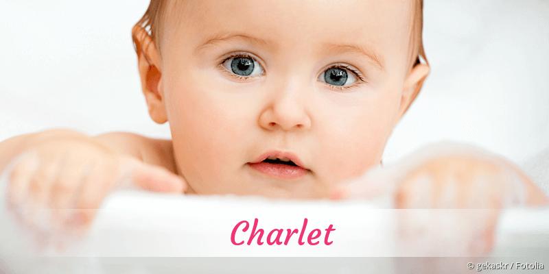 Name Charlet als Bild