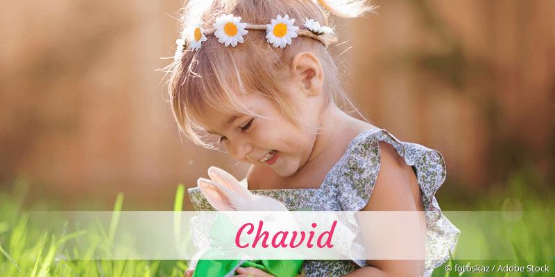 Name Chavid als Bild