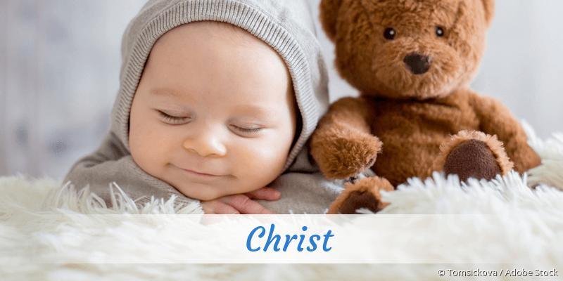 Name Christ als Bild