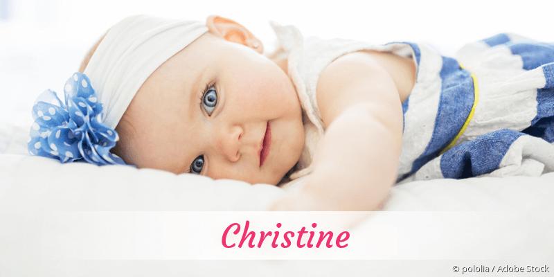 Name Christine als Bild